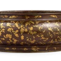 3654. 十六至十七世紀 銅灑金獅耳簋式爐 《大明宣德年製》仿款 |