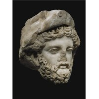 67. a marble head of herakles, roman imperial, 2nd century a.d.