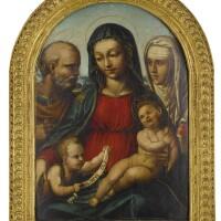 104. bartolomeo di david | holy family with saint john the baptist and saint catherine of siena