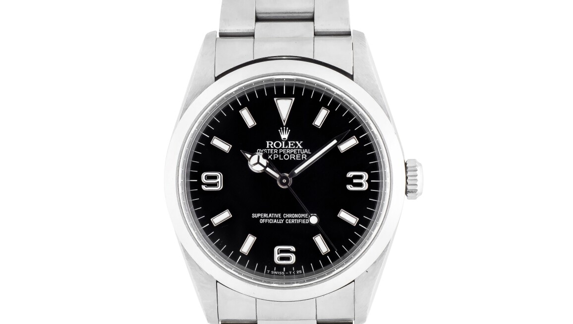 stainless steel rolex watch black face