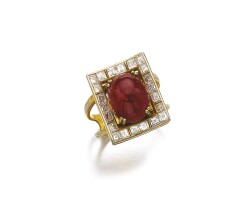 511. ruby and diamond ring