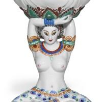 408. lady with a lotus: a soviet porcelain vase, state or lomonosov porcelain factory, leningrad, circa 1925