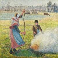 11. 卡米耶・畢沙羅 | 《霜降,農家少女在生火》