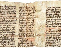 42. fragment of a prayerbook, in german [germany, 14th century]