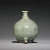 183. a 'guan'-type 'longquan' celadon waterpot and a stopper song dynasty