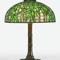 "339. tiffany studios | ""bamboo"" table lamp"