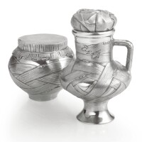 94. a russian silver creamer and sugar bowl, ovchinnikov, moscow, 1893