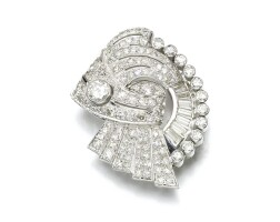 2. diamond brooch, 1930s