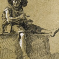 333. francesco londonio   a young shepherd boy eating