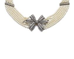 30. 小顆珍珠配鑽石項鏈