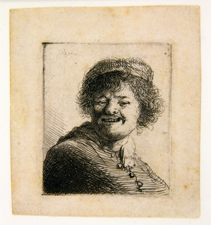 Rembrandt, Self-Portrait in a Cap: Laughing