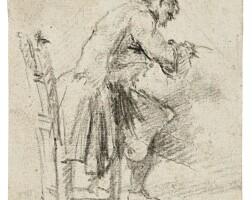 117. giovanni battista piranesi | study of a young man seated, seen in profile
