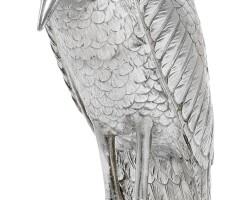 6. a german parcel-gilt silver model of a stork, firma neresheimer, hanau, circa 1890