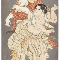 41. katsukawa shun'ei (1762–1819)two sumo wrestlers edo period, late 18th century  