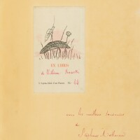 35. manet-mallarmé. l'après-midi d'un faune, 1876. in-4. rel. de moncey. ex. sur hollande. envoi de mallarmé à rossetti.
