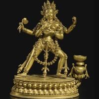 721. a gilt-bronze figure depictinga dakini tibet, 16th/17th century