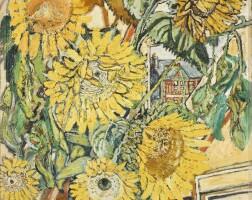 522. john bratby, r.a. | sunflowers