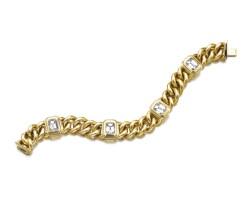 9. 黃金鑲鑽石手鏈