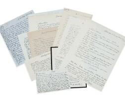 25. giacometti. 12 l.a.s. à alice hirschfeld, 1931-1944. correspondance inédite à une amie de jeunesse (21 p.).