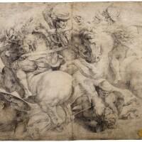 10. italian school, 16th century | the fight for the standard (the battle of anghiari), after leonardo