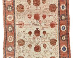 40. a khotan long rug, east turkestan