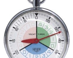 3. heuer   a large stainless steel stopwatch with 15 minute counteryacht timer circa 1970