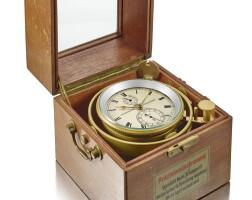 2001. veb glashütter uhrenbetriebe | 紅木及銅航海時計備動力儲存顯示,錶殼編號4'570,約1940年製。