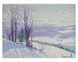 10. gerrit albertus beneker | a winter afternoon in the green mountains, craftsbury, vermont