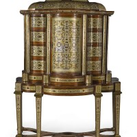 10. a south german baroque pewter, brass andtortoiseshell boulle marquetry cabinet on stand, munich orvienna, circa 1710