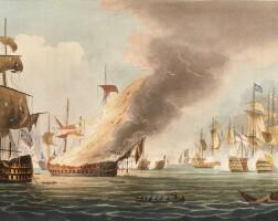 33. jenkins. naval achievements of great britain, 1817; marital achievements, 1815, 2 vol. (not uniform), coloured plates