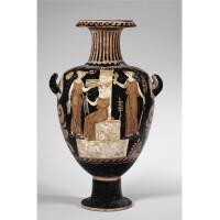 69C. a campanian red-figured hydria, attributed to the apz painter, circa 330-300 b.c.