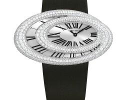 2023. cartier | white gold and diamond-set wristwatchref 3213 case 92703px baignoire hypnose circa 2011
