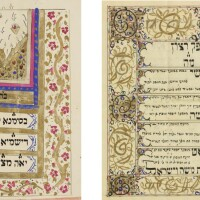 117. two decorated booklet-form ketubbot from tehran