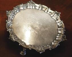 23. two georgian silver waiters, dennis wilks and robert jones & john scofield, london, 1747 and1775