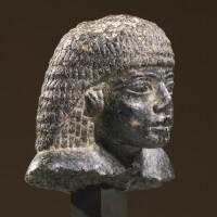 7. an egyptian granite head of a man, 18th dynasty, period of amenhotep iii, 1403-1365 b.c.