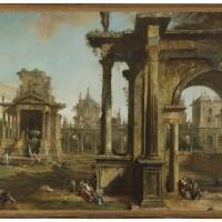 29. giovanni antonio canal, called canaletto   architectural capriccio with classical ruins