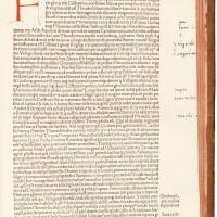 55. blondus, historiarum ab inclinatione romanorum imperii decades, venice, 1484, later marbled calf