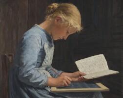 6. albert anker | fleissig / appliquée, 1886