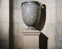 16. a monumental quartz granite vase, roman egypt, probably alexandria, circa 1st century b.c.