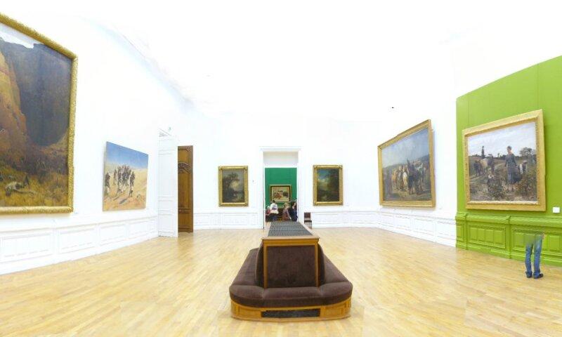 Interior view of the Musée d'Arts de Nantes.