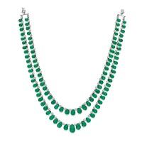 1645. emerald and diamond necklace
