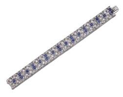 311. sapphire and diamond bracelet, early 20th century