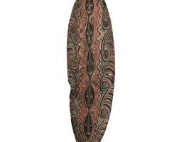 12. bouclier, rivière april, cours supérieur du fleuve sepik, papouasie nouvelle-guinée
