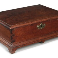 6031. rare chippendale walnut document box, chester county, pennsylvania, dated 1773