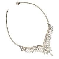 485. platinum and diamond necklace