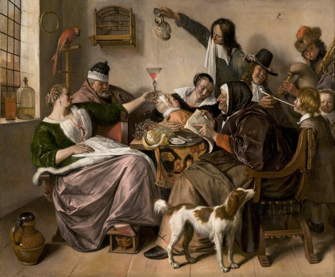 Jan Steen, 'As the Old Sing, So Pipe the Young'