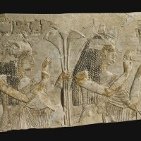 3. a limestone relief fragment, 19th dynasty, reign of ramesses ii, 1279-1213 b.c.