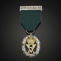 36. the volunteer officer's decoration awarded to the 2nd duke of cambridge  