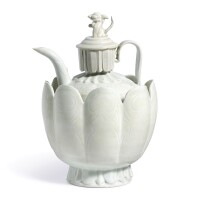 14. a qingbai lobed wine ewer, cover and bowl northern song dynasty
