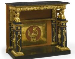 4. a gustav iv swedish neoclassical ebonized and parcel-gilt console table by pehr gustav bylanders circa1810